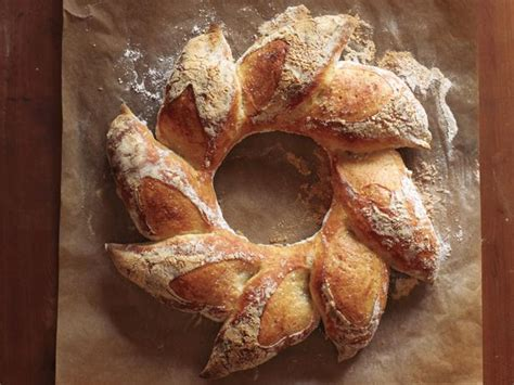 Holiday Bread Wreath Recipe   Food Network Kitchen   Food