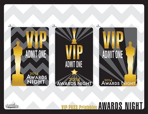 Vip Home Decor awards night party printables evite