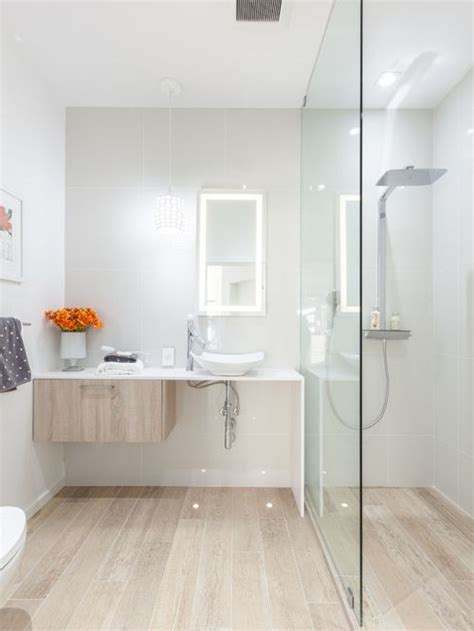 Badezimmer Fliesen Holz by Wood Tiles Bathroom Houzz