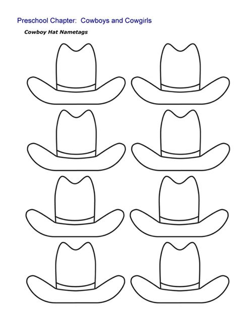 printable numbers for drawing out of hat kindergarten printable hat templates cowboy hat nametags