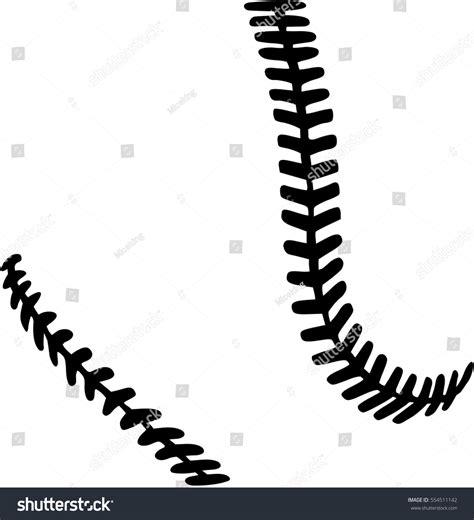 softball stitches stock vector 554511142 shutterstock