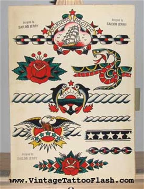 vintage tattoo flash sailor jerry collins flash for sale