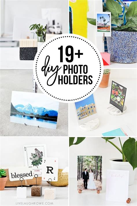 diy picture place card holder tell love and party diy photo holders over 19 of them to inspire you