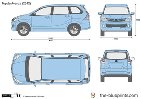 toyota avanza vector drawing