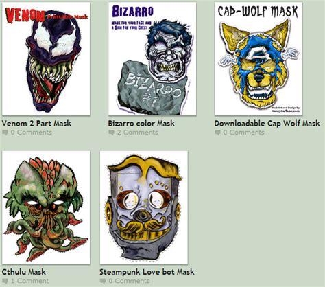 printable venom mask super punch venom cthulhu and werewolf captain america