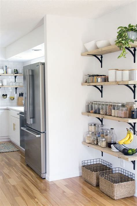 Kitchen Wall Storage Ideas by 25 Best Ideas About Kitchen Shelves On Pinterest Open
