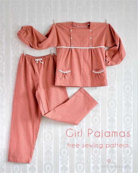 pajamas for 12 year olds pajamas 5 to 12 years free sewing pattern