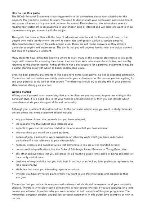 writing lab sociology personal statement advice