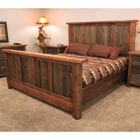 barn wood bed frame wyoming reclaimed barnwood bed reclaimed barn wood bed