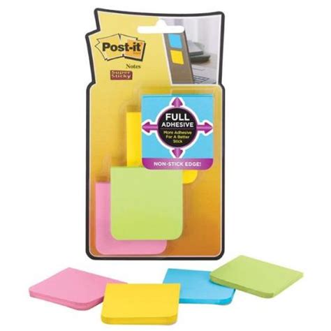 The Sticky Factor 3 by Post It Coloured Sticky Notes Pack Of 8 F220 8ssfm