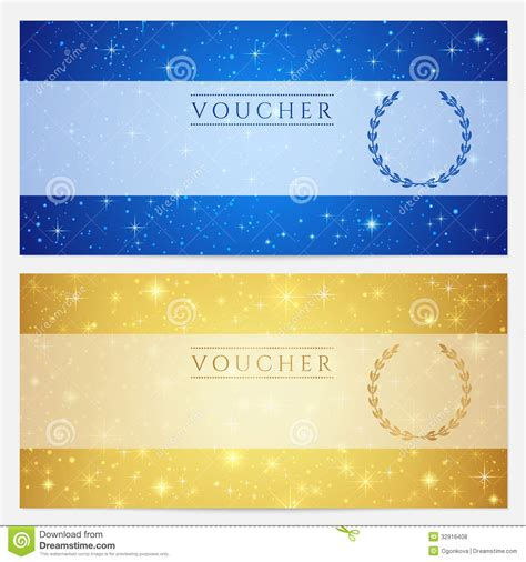 design background gift free download gift certificate voucher coupon template stars stock