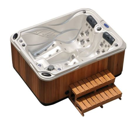 bathtub and jacuzzi mini 2 3 person indoor spa hot tub with two long lounges