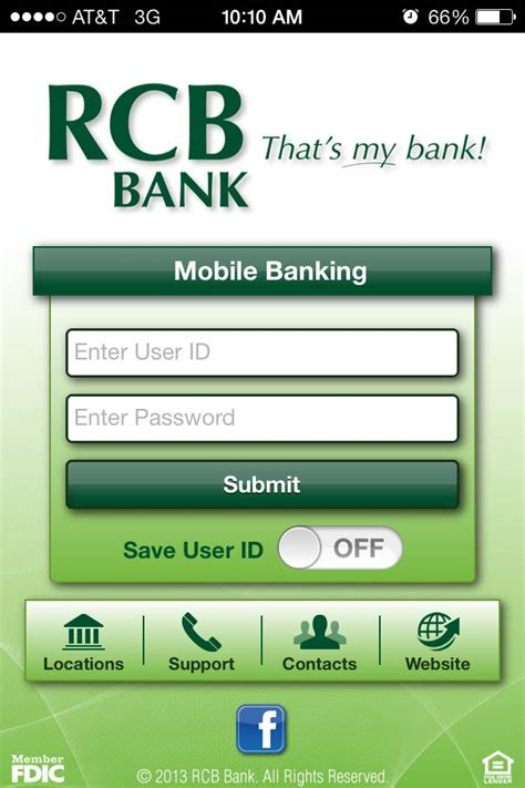 rb bank mobile banking apps 187 rcb bank that s my bank
