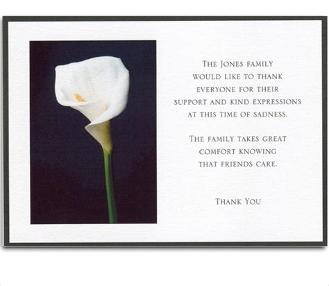 template funeral thank you cards 6 bereavement thank you cards free sle exle