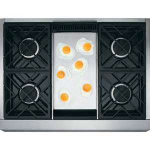 ge cooktop griddle zgu364ndpss monogram 36 quot professional gas rangetop with