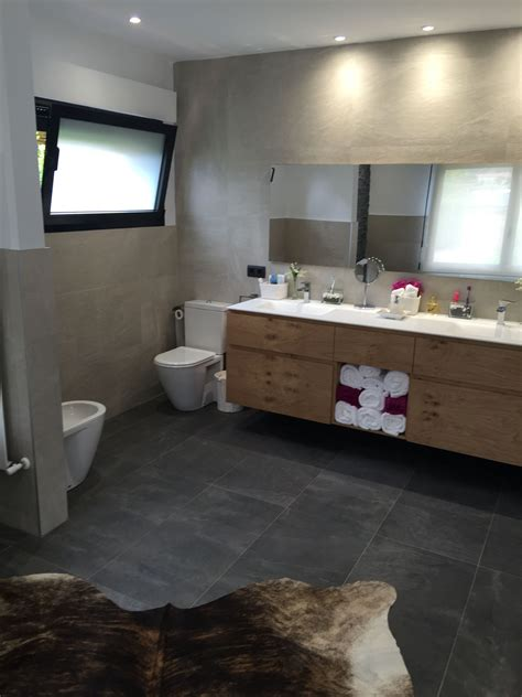 trendy bathroom with two colors of the filita ceramic