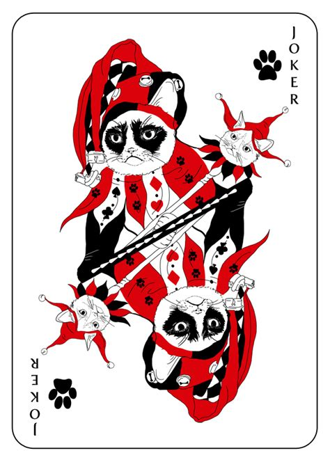 bēhance cats playing cards by katarzyna kalder playing