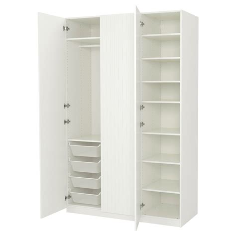 ikea armoire pax pax wardrobe white marnardal striped white beige