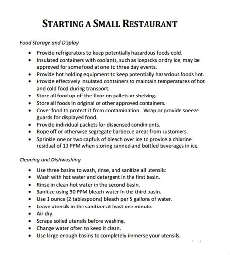 5 Free Restaurant Business Plan Templates Excel Pdf Formats Business Plan Template For Startup Restaurant