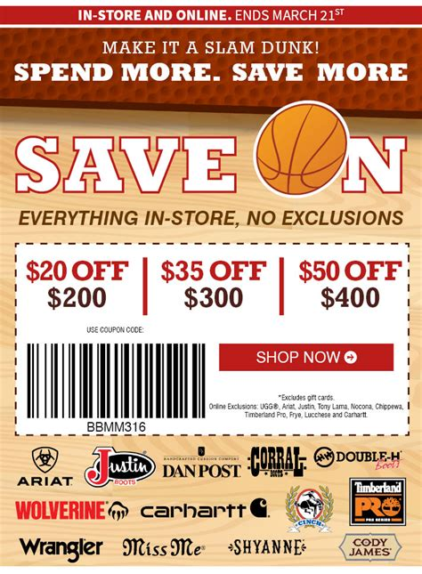 boot barn coupon codes 20 bootbarn up to 50 entire purchase limited time