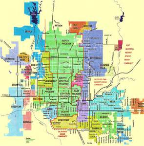 arizona city limits map new improved map of the cities and towns in the valley of