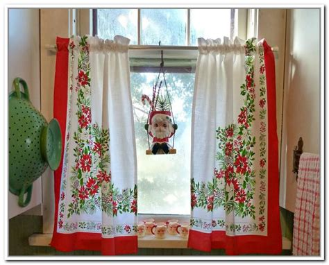christmas curtains for kitchen christmas kitchen curtains usefulness my kitchen