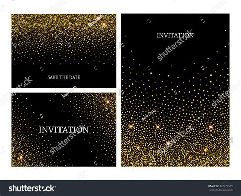 Invitation Letters Template Gold Glitter Confetti Stock Vector 447070519 Shutterstock Glitter Invitation Template