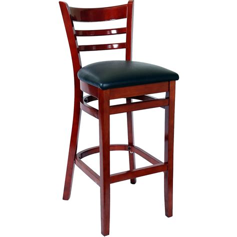 restaurant bar stools with backs ladder back wood bar stools