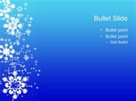 Snowflakes On Blue Background Template Snowflake Powerpoint Template