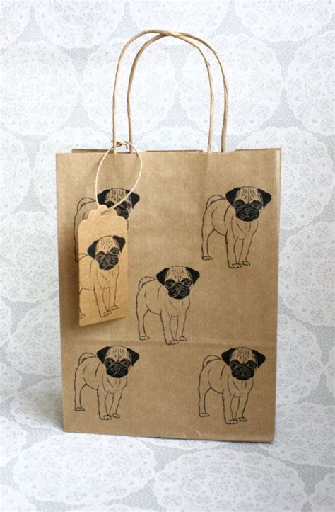 pug gift bag 25 best ideas about kraft bag on big gift boxes kraft gift boxes and