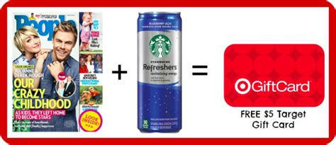 Gift Cards That Work Anywhere - free people magazine and starbucks refresher at target