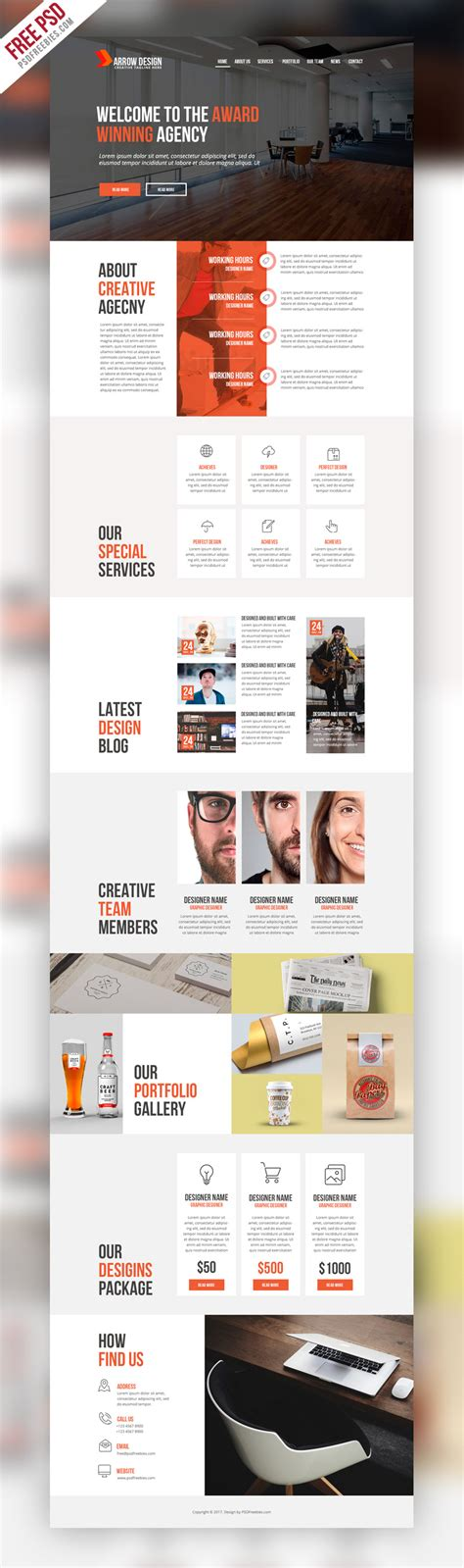 web templates for advertising agency clean and creative agency website psd template
