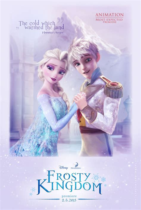 film elsa and jack frost elsa and jack frost in frosty kingdom by cylonka