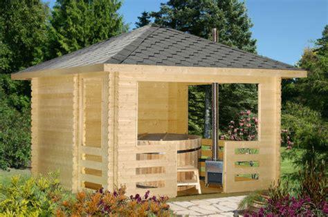 gartenpavillon 4x4m holz badefass zur abk 252 hlung im sommer