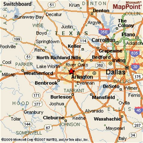 map of fort worth texas and surrounding areas fort worth texas