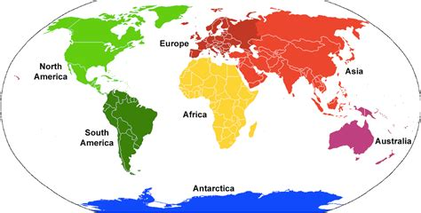 7 Continents Of The World Printable