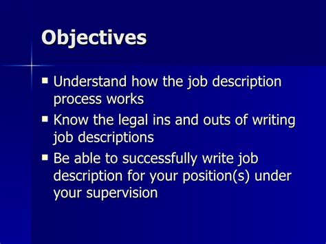 how to write a description ppt