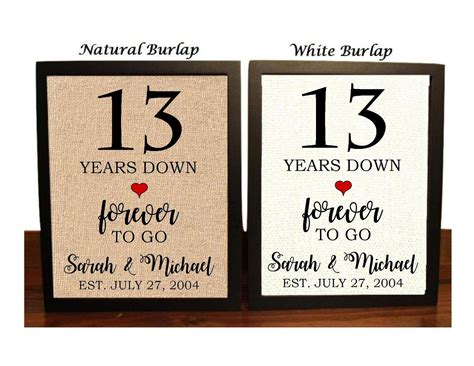 12th Wedding Anniversary Gift For by 13th Anniversary Gift 13th Wedding Anniversary Gift Gift