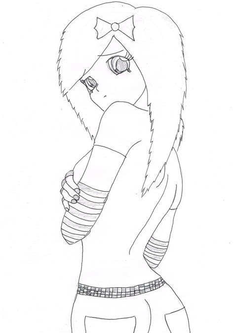 emo anime girl coloring pages anime coloring pages how to draw emo girls lilz eu