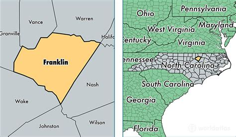 919 us area code time zone franklin county carolina map of franklin county
