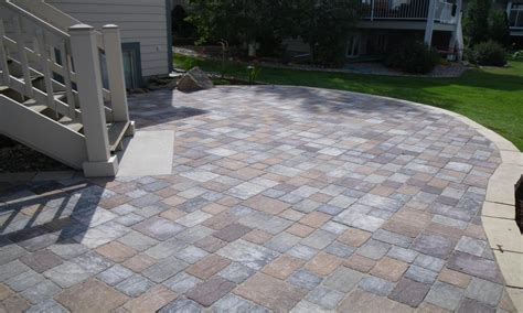 Concrete Or Paver Patio Landscaping Paver Ideas Square Concrete Paver Patio Designs Concrete Patio With Pavers