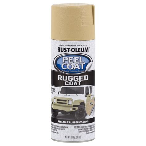 rust oleum automotive 11 oz peel coat rugged coat sand spray paint 6 pack 311282 the home depot