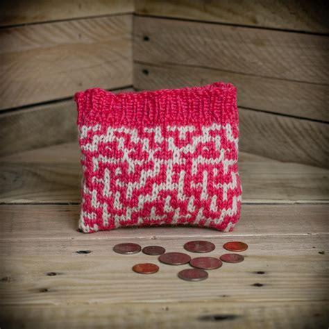 knitting pattern wallet loom knit wallet make up bag 2 pattern set mosaic wallet