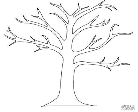 empty tree coloring page 卡通树干简笔画图片 大树简笔画 简笔画大全