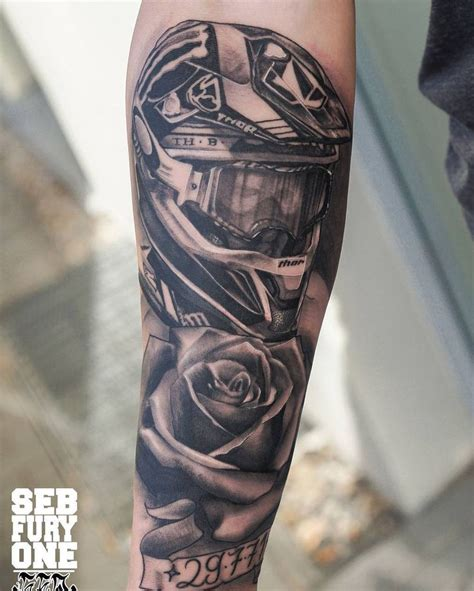 nomad tattoo motocross by sebfuryone sebfuryone nomad