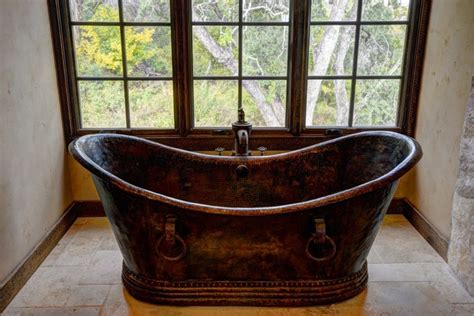hand hammered copper bathtubs rustic bathtubs