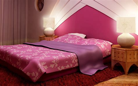 nice pink bedroom bed interiors images hd wallpapers