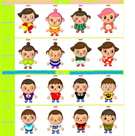 hairstyles animal crossing ds hairstyle guide animal crossing wild world ds 2017