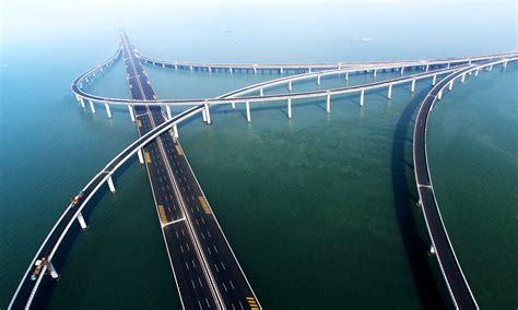 qingdao bridge jiaozhou bay bridge china feel the planet