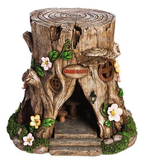 fairy garden miniature tree stump fairy house lighted
